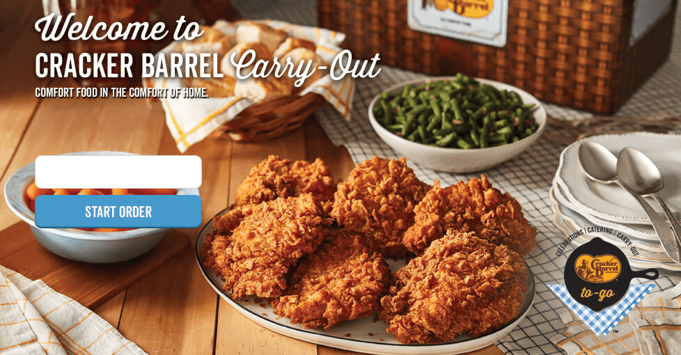 Welcome to Cracker Barrel To-Go. Enjoy our full menu from home.
