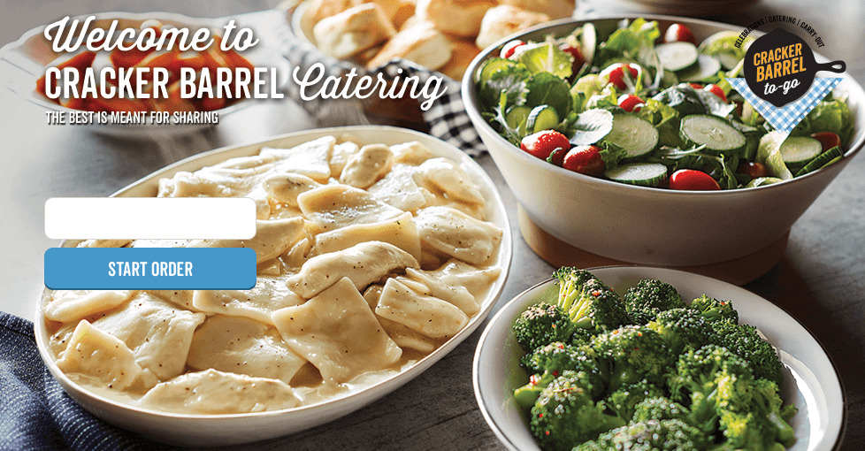 Welcome to Cracker Barrel Catering. Southern fare made to share to any sized get-together