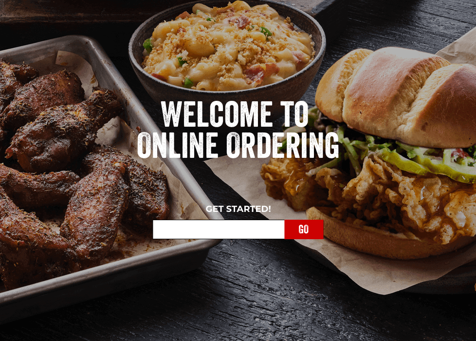 Welcome to Online Ordering. Get Started!