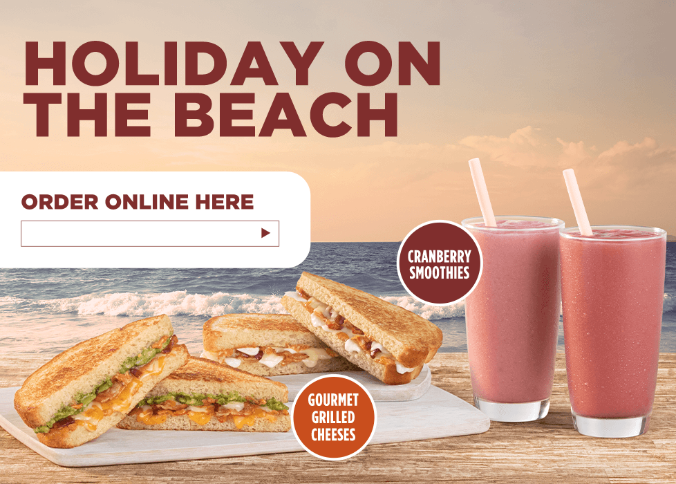 Our new sandwiches are pressed for success. Seize the summer with a watermelon mojito smoothie. Order online here. Get started. Enter your address or zip code.